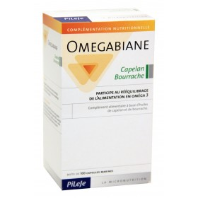 Pileje - Omegabiane Capelan Bourrache 100 Capsules marines