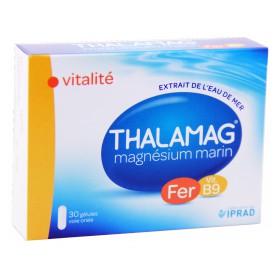 Thalamag - Magnésium marin fer B9 vitalité 30 Gélules