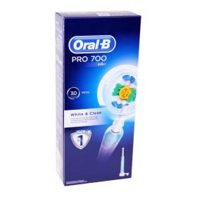 Oral B - Brosse à dents électrique Pro 700 White & Clean