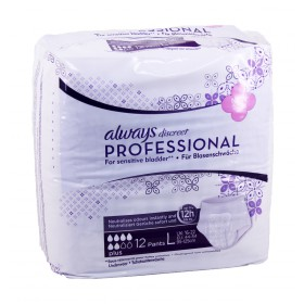 Always - Discreet Professional Sous-vêtements Plus Taille L x12