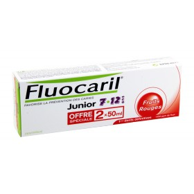 Fluocaril - Dentifrice Junior Fruits Rouges 2x50ml