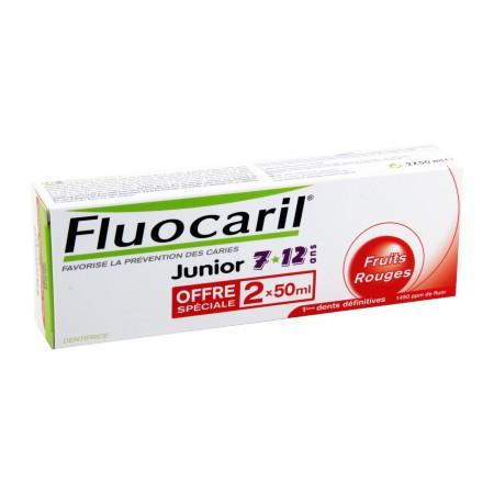 Fluocaril - Dentifrice Junior Fruits Rouges 2x50ml