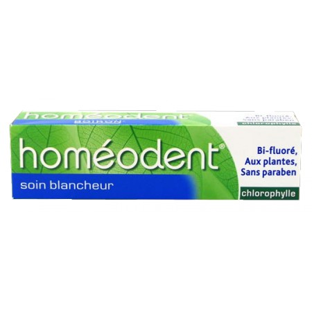 Boiron - Homéodent Dentifrice Chlorophylle Soin Blancheur 75ml