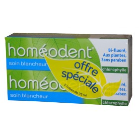 Boiron - Homéodent Dentifrice Chlorophylle Soin Blancheur 2x75ml