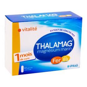 Thalamag - Magnésium marin fer B9 vitalité 60 Gélules
