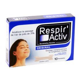 Respir'Activ - Bandelettes nasales nez large x10