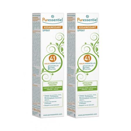 Puressentiel - Spray assainissant aux 41 huiles essentielles 2x200ml