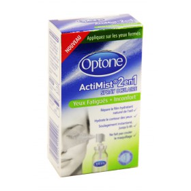 Optone - Actimist 2 en 1 spray oculaire yeux fatigués + inconfort 10ml
