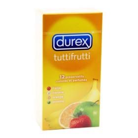 Durex - Tuttifrutti préservatifs colorés et parfumés x12