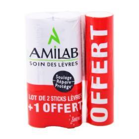 Amilab - Soin des lèvres Stick 3x3,65g