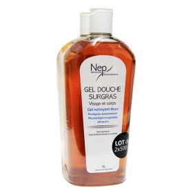 Nepenthes - Gel douche surgras classique visage et corps 2x500ml