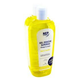 Nepenthes - Gel douche surgras miel vanille visage et corps 2x500ml