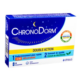Chronodorm Mélatonine Double Action 15 Comprimés