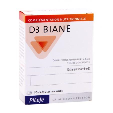 Pileje - D3 Biane 30 capsules marines