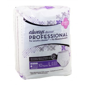 Always -  Discreet Professional Sous-vêtements Normal Taille L x10
