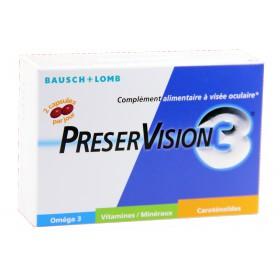 Preservision 3 - Complément alimentaire à visée oculaire 60 Capsules