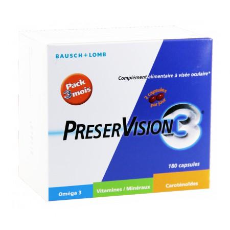 Preservision 3 - Complément alimentaire à visée oculaire 3x60 Capsules