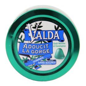 Valda - Gommes sans sucres goût menthe et eucalyptus 50g