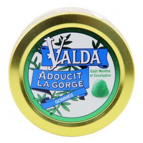 Valda - Gommes goût menthe et eucalyptus 50g