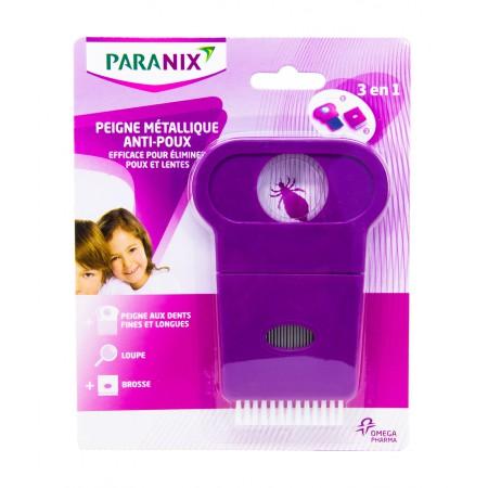 Paranix - Peigne anti-poux métallique 3 en 1
