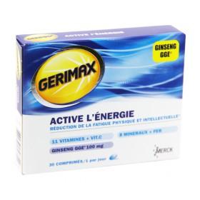 Gerimax - Active l'énergie 30 Comprimés