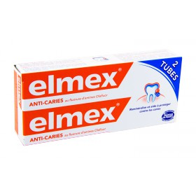 Elmex - Protection caries dentifrice 2x75ml