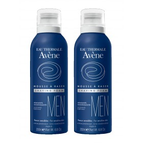 Avène Men - Mousse à raser apaisante assainissante 2x200ml