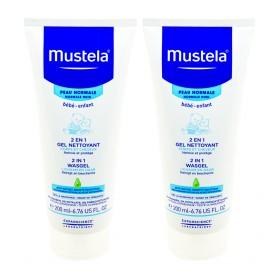 Mustela Bébé - 2 en 1 Cheveux et corps gel nettoyant 2x200ml
