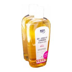Nepenthes - Gel douche surgras parfum monoï visage et corps 2x500ml