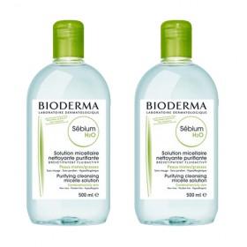 Bioderma - Sébium H2O Solution micellaire nettoyante purifiante 2x500ml