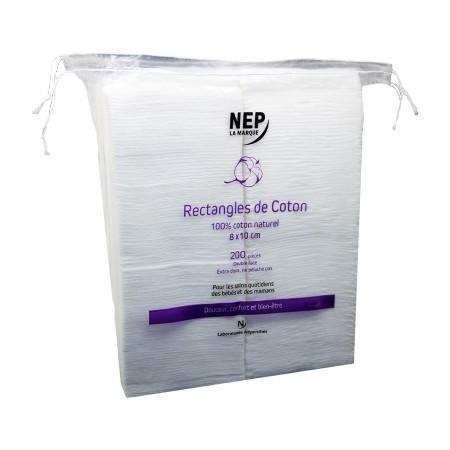 Népenthès - Rectangle de coton 8x10cm x200