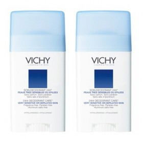 Vichy - Déodorant Stick Peaux très sensibles ou épilées 40ml Lot de 2