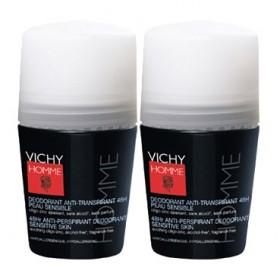 Vichy Homme - Déodorant Anti-transpirant 48H Lot de 2