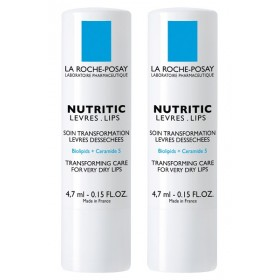 La Roche-Posay - Nutritic Stick lèvres 4,7ml Lot de 2