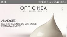 Capture d'écran de l'application Clean Beauty.
