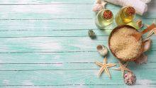 Huile de coco et autres produits marins.