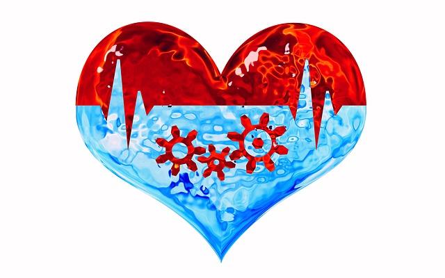 Dessin d'un cœur pour parler de la santé connectée dans les EHPAD.